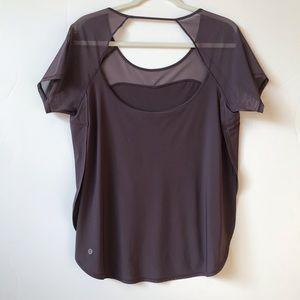 Lululemon Top Anew Short Sleeve TeeMesh Size 10
